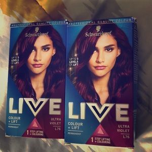 Bundle of TWO ultra violet hair dyes
